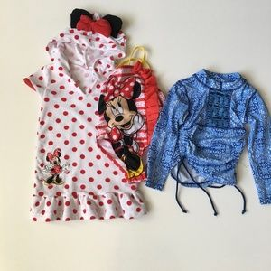 2t Bathing Suit Bundle for Girl Minnie Mouse
